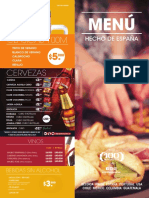 Menu  100 montaditos Colombia