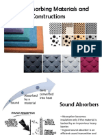 Sound Absorbing Materials and Constructions