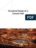 Acoustical Design of a Concert Hall