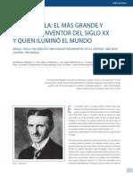 Viñeta Histórica de Nikola Tesla