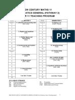 Year 11 General 2 Teaching Program