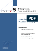 KYOS Course Outline Power Generation Valuation Hedging 20170515