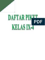 DAFTAR PIKET KELAS IX.docx