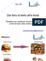 Dal libro di testo all'e-book