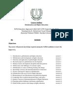 Globalization and Higher Education Outline Dr. Sharjeel