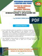 Expocicion de Control Quimico Surfactantes y Aplicacion de Herbicidas