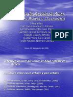 Cobertura de Servicio de Agua Potable en Bolivia (Presentación)