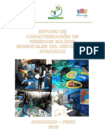 Estudio de Caracterización de Residuos Municipales