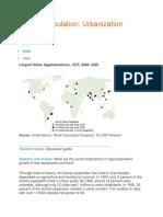 Human Population Urbanization