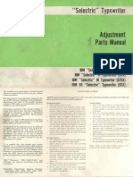 """IBM, 1980 - """"Selectric"""" Typewriter Adjustment Parts Manual"""