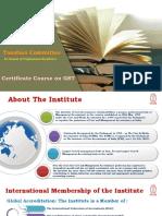 Icwa Certificate Course GST