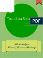 Techdata Solution SAS Training PDF
