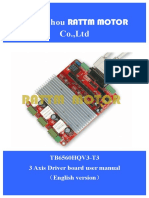 3 Axis TB6560 v Type Driver User Manual