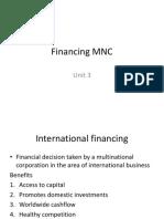 Unit 3 Financing of MNC