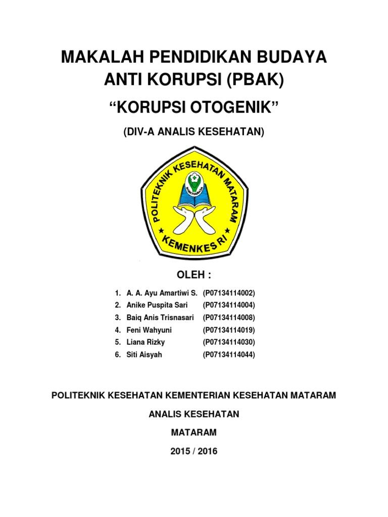 Makalah Pendidikan Budaya Anti Korupsi Docx
