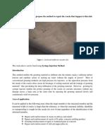 Method to repair the cracks that happen under bridge