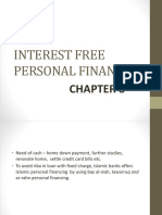 Chapter 8 Interest Free Personal Financing