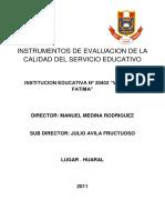 Instrumentos de Evaluacion de La Calidad Del Servicio Educativo