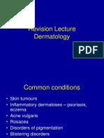 Revision Lecture - Dermatology