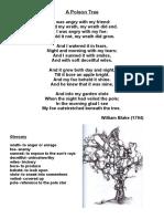 A Poison Tree Poem