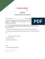 Architect Certificate