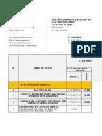 evaluacion y cALIFICACION DE POSTORES