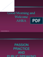 Passion Practice and Public Speaking
