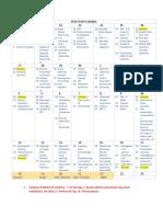 Pediatrics Study Schedule