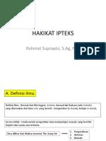HAKIKAT IPTEKS