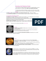 Cuáles Son Los Planetas Del Sistema Solar