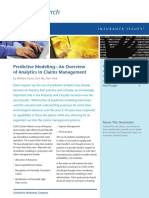 Predictive Modeling—An Overview of Analytics in Claims Management