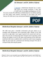 Motherhood Hospital Alwarpet  and Dr. Jaishree Gajaraj