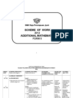 Scheme of Work Add Maths T5 2012