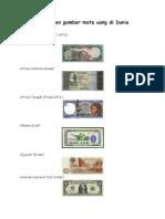 Nama Dan Gambar Mata Uang Di Dunia