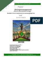 Veranderingsmanagement In relatie tot Informatietechnologie