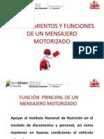 Planteamientos y Funciones de Un Mensajero Motorizado