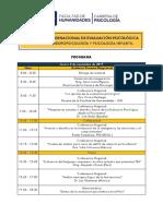 Programa Congreso Evaluación Psicológica
