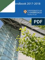 Faculty of Law Handbook