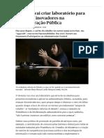 Governo Vai Criar Laboratório Para Projectos Inovadores Na Administração Pública - PÚBLICO