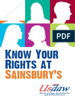 Sainsburys Know Your Rights a 7 Booklet