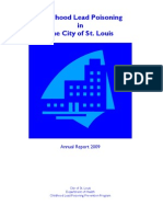 2009 Annual Report on Childhood Lead Poisoning in The City of St. Louis