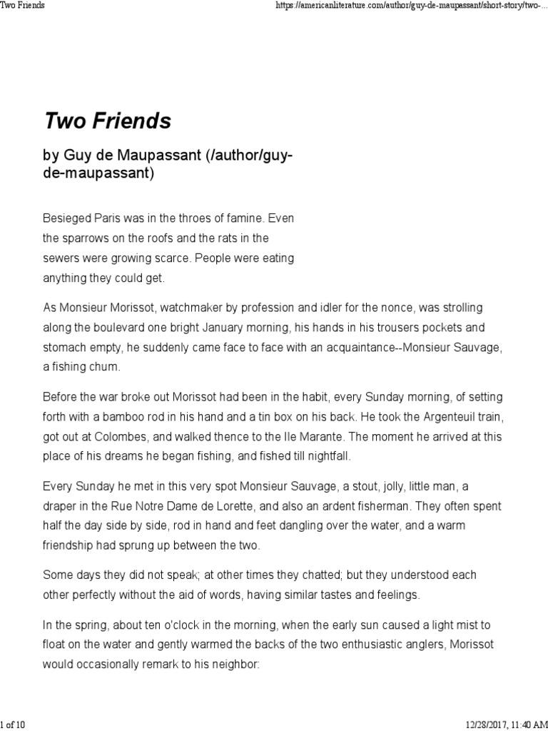 Two friends pdf   Short Stories