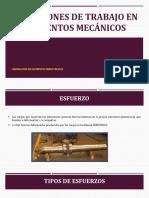 Condiciones de Trabajo Elementos Mecanicos