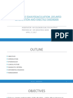 Premature (Early)Ejaculation ,Delayed Ejaculation and Erectile