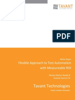 White Paper - Flexible Approach to Test Automation With Measureable ROI