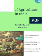 State of Agriculture in India