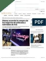 Disney Acuerda La Compra de Los Negocios de Fox SCJM