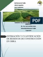 Gestion de Residuos de Construccion en Una Obra 13.07.17