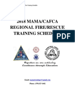 2018 MAMA/CAFCA Regional Fire/Rescue Training Schedule