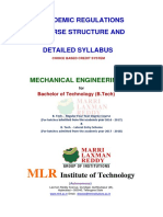 b.tech Mech Mlrit Syllabus r 16